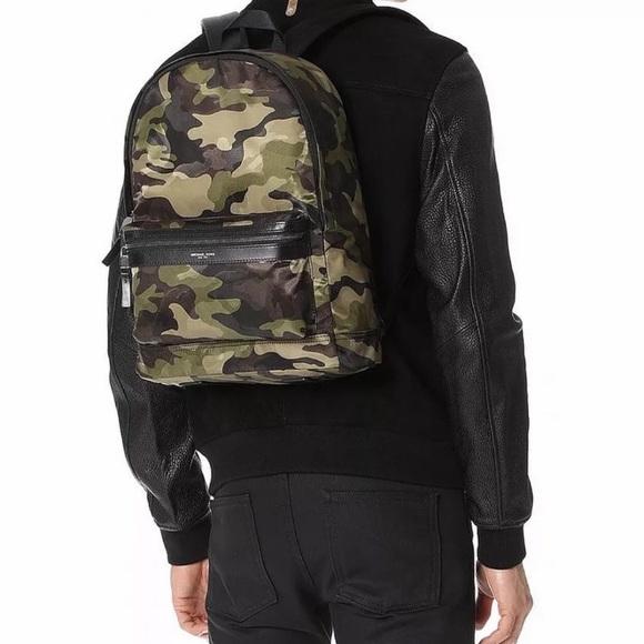 f7a1e2d090ba Michael Kors Bags | Kent Military Camo Green Backpack | Poshmark
